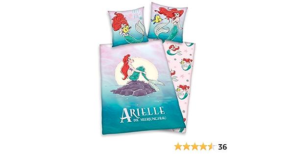 Disney Ariel Die kleine Meerjungfrau Wende Bettwäsche Kopfkissen Bettdecke