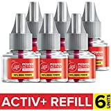 Goodknight Power Activ+, Mosquito Repellent Refill (Pack of 6)