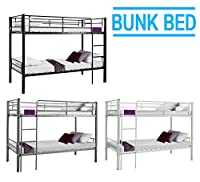 Minifair 3ft Single Sleeper Bunk Bed Metal Frame Children Bunk Bed - Twin Sleeper For Kids(bed frame only)