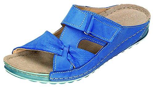 MICCOS Shoes–Sandales Femme Pantolette D. Pantolette Bleu - Jeans