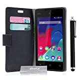 zStarLn® nior Luxe Portefeuille Etui Housse pour Wiko Sunset 2 Coque en cuir + Stylet Touch Pen OFFERTS