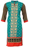 KKs Fashions Women's Cotton Straight Kur...