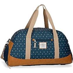 Pepe Jeans 6233661 Carola Bolsa de Viaje 55 cm, 36.3 litros, Azul