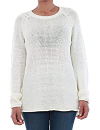 Vero Moda Pullover Women Long Sleeve Off-White 10192178 VMKAKI LS O-Neck Blouse Pristine