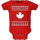 Canadian Kanada Eh hässlich Christmas Sweater weiches Baby Einteiler rot 9-12 M