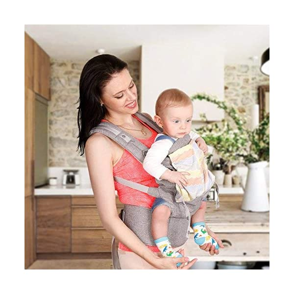 Lictin Baby Carrier Sling for Newborn - Baby Wrap Carriers Front and Back, Breathable Adjustable Swaddle Wrap Ergonomic Breastfeeding Baby Sling Carrier for Infants up to 33 lbs/15kg, Handsfree(Grey) Lictin Baby carrier newborn to toddler: bearing the weight from 3.5 to 15 kg/7.7 to 33 lbs Safe to use: with CE EN 13209-2:2015 safety certification Baby backpack carrier: high-class fabric,fast-drying,not sticky with wool 2