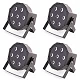 4x ETEC Quad LED PAR Scheinwerfer 7x10 Watt RGBW 4in1 - Party Disco Leuchten DJ Club
