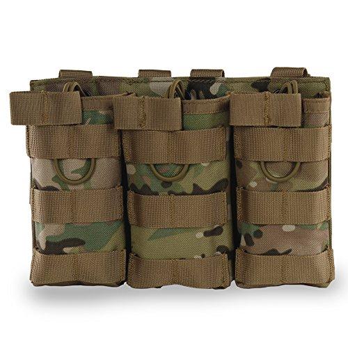 Molle Magazintasche, Oben-offen Mag Halter 1000D Nylon Magazinbeutel für M4 M16 AR-15 Magazin -