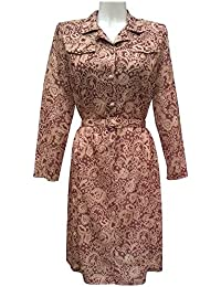 Kazco Long Sleeved Dress Older Woman Elderly Ladies Vintage Style Dresses 4353d347f7cb