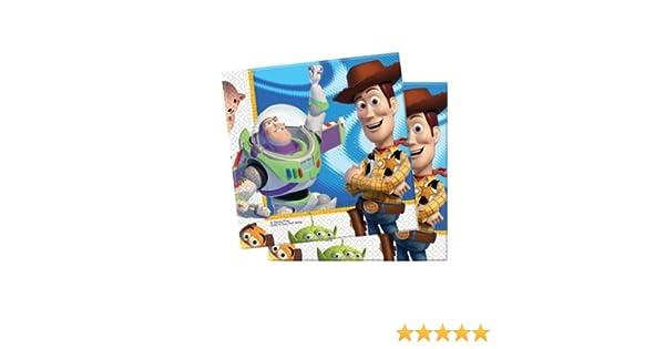 Accessori festa compleanno Toy Story 3 tovaglioli In carta 33x33 cm 20 pz