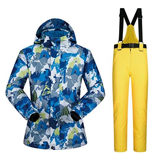 Ploekgda Winddichte Regenjacke der Männer, Wasserdichte Gebirgsski-Jacke-Schneeanzug (Color : 03, Size : L)