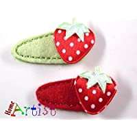 Baby Spange Erdbeere4er Set Tisc