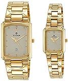 Titan Bandhan Analog White Dial Couple Watch, 19552955YM02