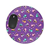 Rollerskate Disco Mousepad–Neopren für optische und Laser Maus, violett, Heart Mousepad