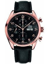 Laco 1925 - Reloj analógico de cuarzo para hombre con correa de caucho, color negro