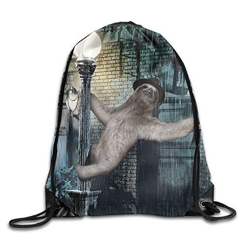 Photo Gallery naiyin singing in the rain sloth 3d print drawstring backpack rucksack shoulder bags gym bag