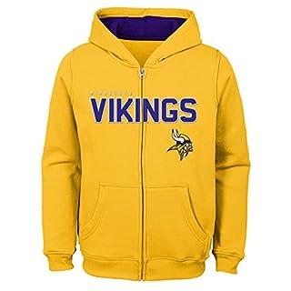 Outerstuff NFL Minnesota Vikings Jungen Kids & Youth angegebenen Full Zip Fleece Hoodie, Jungen, 9K1B72hg9 VIK B72-BXL20, Gold, Youth Boys X-Large(18)