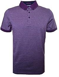 Ted Baker Men's Tig Purple Textured Jacquard Polo Shirt