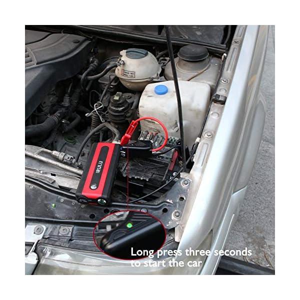 Arrancador de emergencia para automóvil (hasta 6 litros de gasolina, motor diesel de 4,5 litros) iRULU 600A Pico…