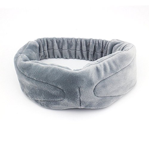 Koiiko® indossabile Mascherina per occhi in velluto da viaggio Sleep Eye Patch con lettore musicale wireless Bluetooth stereo Supporto per cuffie e microfono vivavoce per casa/lavoro Breaks/Business Out/qutdoor campeggio Grey