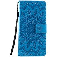 Funda de cuero para Oppo Reno4Pro 5G PU cuero magnético Flip Cover con ranuras para tarjetas Bookstyle Wallet Case para Oppo Reno4Pro 5G - JEKT033153 Azul