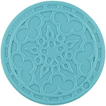 Le Creuset Silicone Set of 4 French Coasters, Caribbean [Kitchen] (japan import)