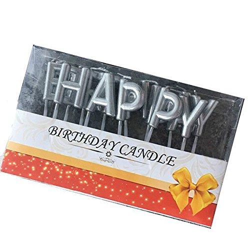 y Kuchenkerzen Gold/Silber Kerzen Cake Topper für Tortendeko Kerzen Geburtstag Kuchendekoration (Silber) (Gold Cupcake-halter)