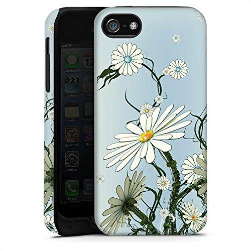 Apple iPhone 5s Housse Étui Protection Coque Fleurs Fleurs Vrilles Cas Tough terne