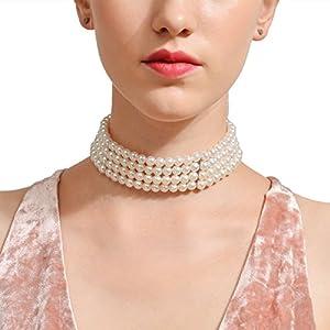 XUHAHAXL Halskette/Fashion Damen Schmuck Street Auktion Halskette Handgefertigte Multi Halskette Perlenkette