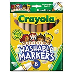 15 Pack Crayola Llc Formerly Binney & Smith Multicultural Wash Mrk Conical 8 Pk