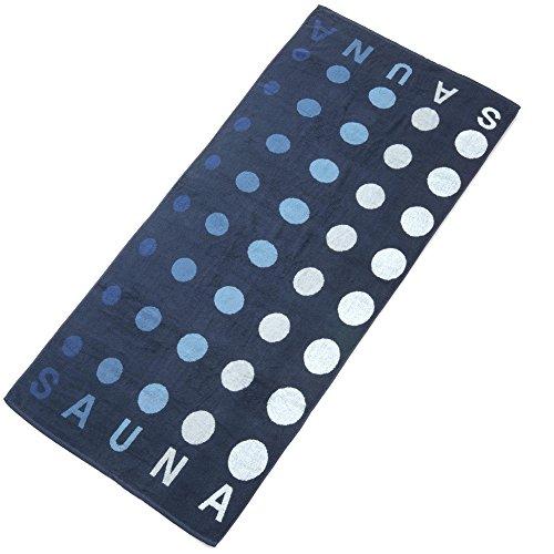 Point Saunatuch / Badetuch 80 x 200 cm Baumwolle Frottee Handtuch aqua-textil 0010681 dunkel-blau