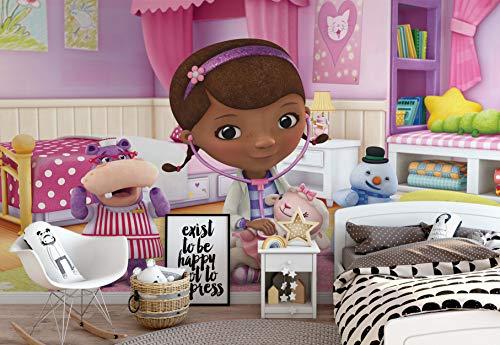 Wallsticker Warehouse Disney Doc McStuffins Vlies Fototapete Fotomural - Wandbild - Tapete - 254cm x 184cm / 2 Teilig - Gedrückt auf 130gsm Vlies - 962V4 - Disney Doc ()