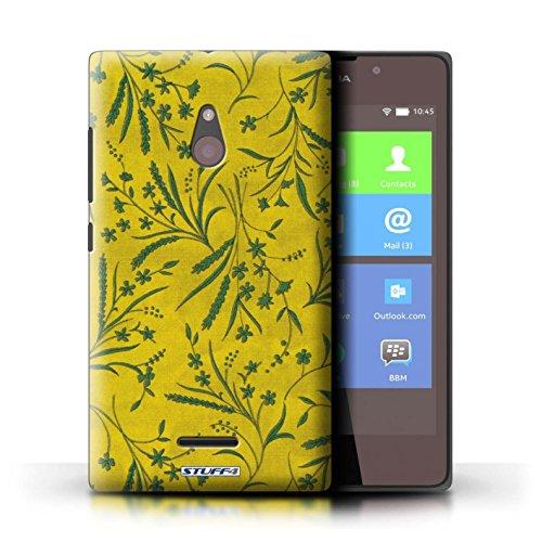 Kobalt® Imprimé Etui / Coque pour Nokia XL / Rose/Orange conception / Série Motif floral blé Jaune/Vert