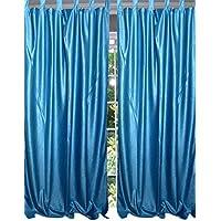 """Mogul interior ventana Drape cortinas para la sala de estar de estilo español, 48""""X84"""" (2paneles, azul)"""