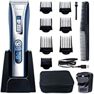 HATTEKER Professional Hair Clipper Hair Trimmer Cordless Clippers Beard Trimmer for Men Haircut Kit USB Rechargeable Best Gift