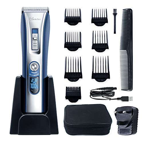 Price comparison product image HATTEKER Professional Hair Clipper Hair Trimmer Cordless Clippers Beard Trimmer for Men Haircut Kit USB Rechargeable Best Gift