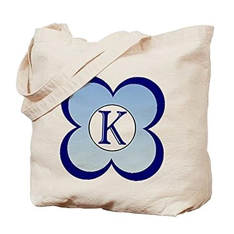 CafePress–Monogramm (K)–Leinwand Natur Tasche, Reinigungstuch Einkaufstasche