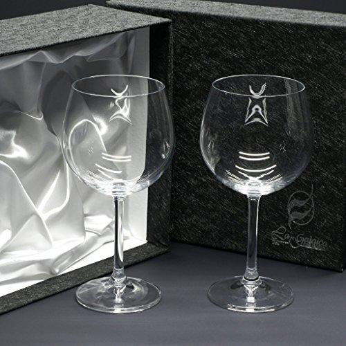 la galaica Set/Étui de 2 Coupes en Verre pour à vin ou à Eau, Collection Gastro.