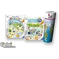 Ravensburger tiptoi Libros Set Entdecke den Zoo + Mein Grande WELTATLAS + infantil mapa del mundo - Länder,ANIMALES,CONTINENTES