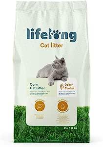 Marchio Amazon Lifelong Lettiera di mais per gatti 25L