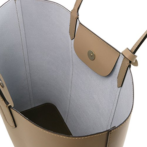 Tuscany Leather Dafne - Borsa shopper in pelle Ruga Rosso Borse donna a tracolla Nero
