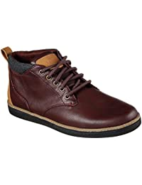 Skechers Mens Helmer Casual Lace Up Stylish Leather Ankle Boots