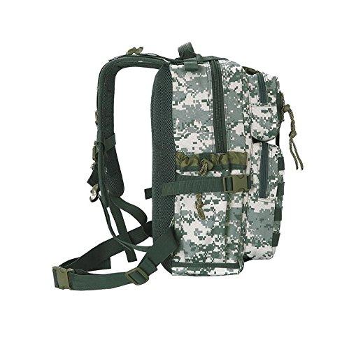 LF&F Backpack 20-35L Kapazität wasserdichtes Nylon Militärfans Tarnung taktischer Rucksack Outdoor-Umhängetasche Reise Reiten Wandern Bergsteigen Tasche Urlaub Tasche Tasche Unisex C