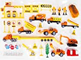 #3: Complete Truck World Construction Crew 40 Pcs Mini Diecast Vehicle Toy Play Set Comes with Variety of Vehicles and Figures