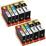 Liondo 10 Tintenpatronen Kompatibel zu Lexmark 100 XL Impact S305 S605 Interpret S405 Intuition S505 Pro 705 805 905 Prospect Pro 205 - 4x Schwarz je 22ml und Color (2x Cyan, 2x Yellow, 2x Magenta) je 12ml