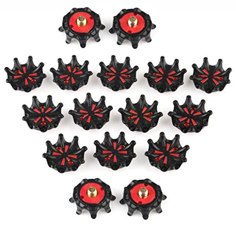 MamimamiH 16 pezzi per tacchetti scarpe da Golf Champ Spikes Stinger a vite, misura piccola, in metallo, per scarpe da Golf