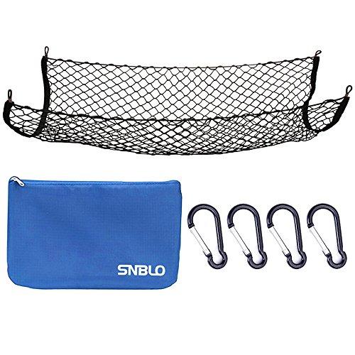 Gepäcknetz für LKW-Bett oder Trunk, 41x25 Zoll elastischem Nylon Mesh Universal hinten Gepäckorganisator Net, mit Bonus Kostenlose Haken durch SNBLO
