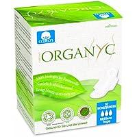 Organyc, Assorbenti con ali, in 100% cotone biologico, 4 confezioni (4 x 10 pz.)