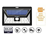 Quace Second Generation - 2018 Launch Solar Lights Motion Sensor Security Lights, 24 LED Solar Powered Light Wireless Waterproof Security Light for Garden, Driveway, Outside Wall ( 3 Modes Motion Activated, Wide Angle Sensor ) With Front Switch