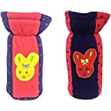 EIO® Baby Feeding Bottle Cover With Soft & Attractive Fancy Cartoon -Set O F 2 Colors & Designs (RED BLUE DOT PATCH, 250ml)